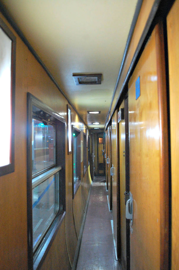 The hallway on the Vietnam Overnight Train