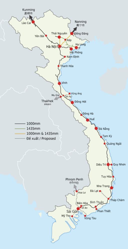 Vietnam Railway Map