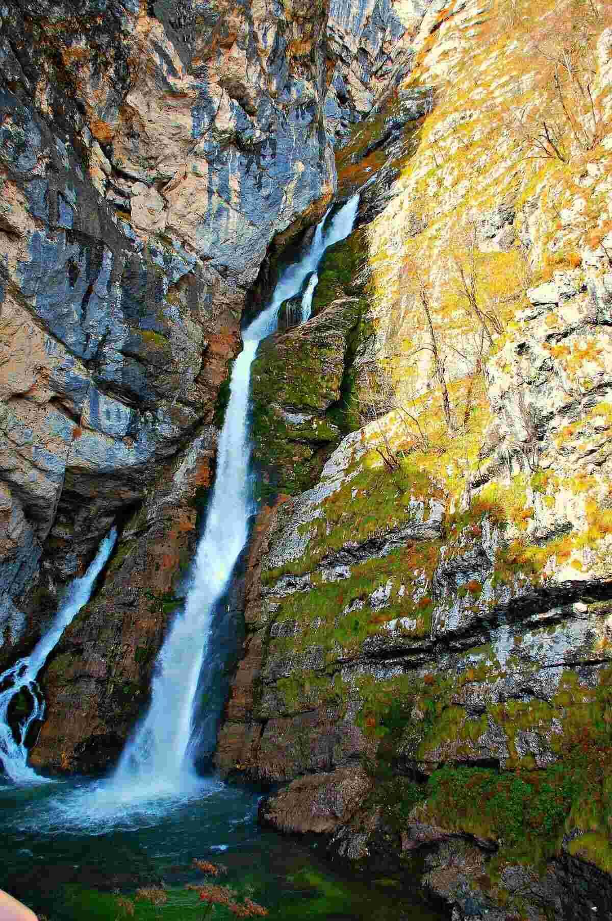 Savica Waterfalls in lake bohinj