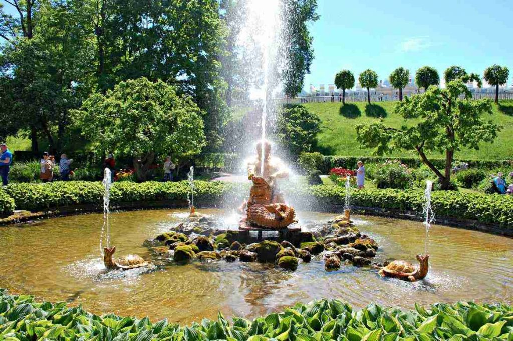 Fountains in the Lower Park at Peterhof Palace