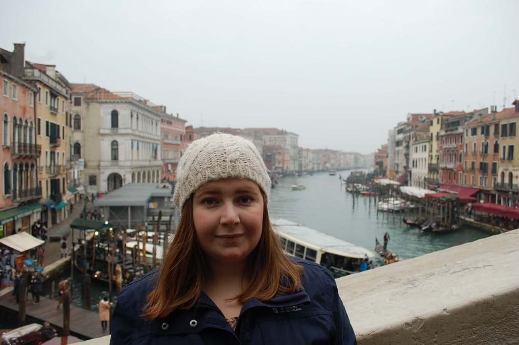Kat at the Grand Canal