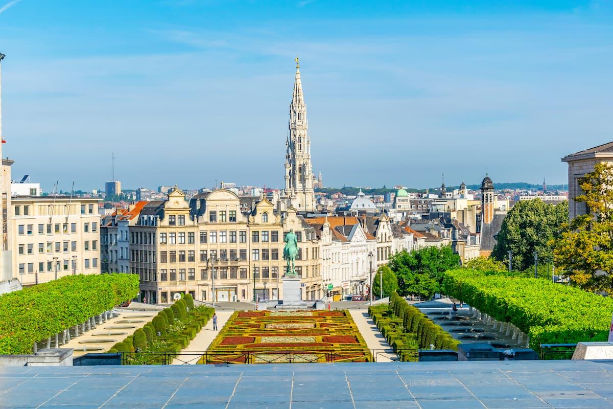 Mont des Arts park in Brussels
