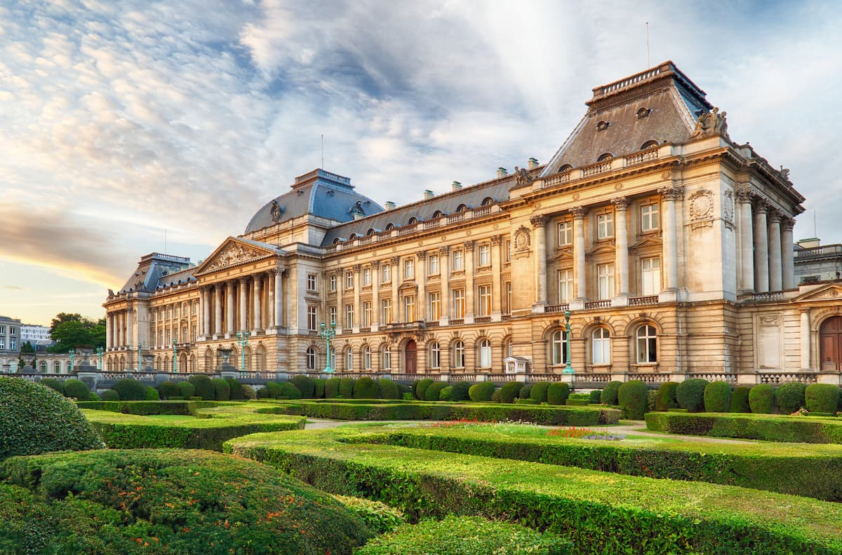 Royal Palace in Brussels in summer day