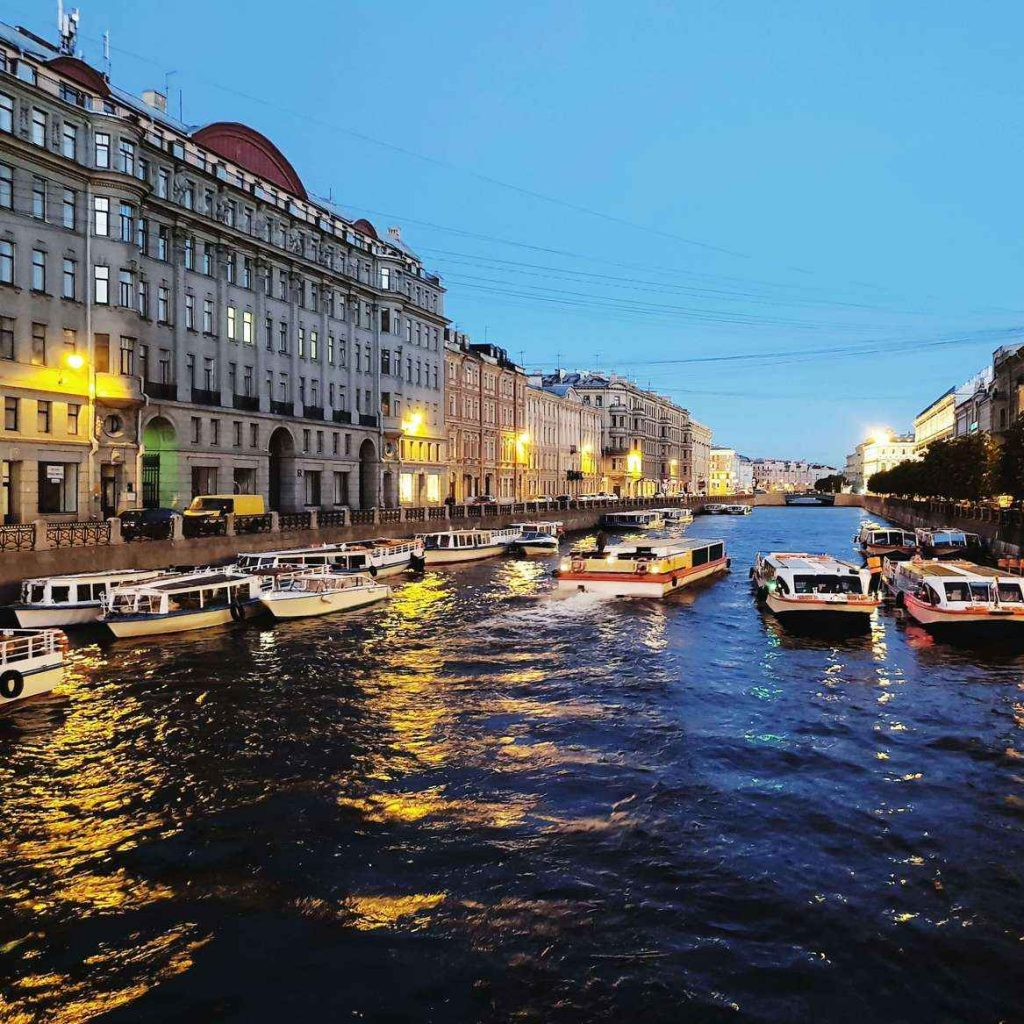 St Petersburg Canals during White Nights
