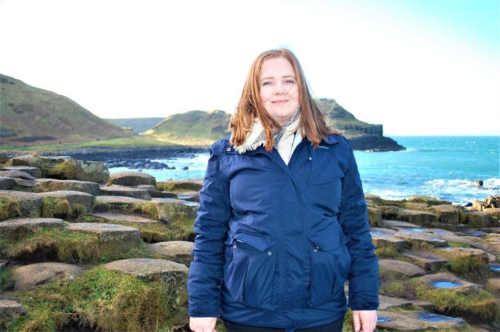 Kat at Giants Causeway