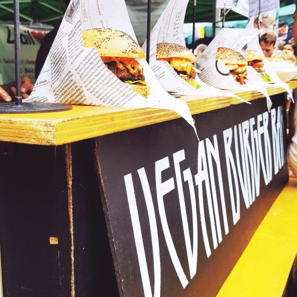 Vegan Burger Bar in Borough Market London UK