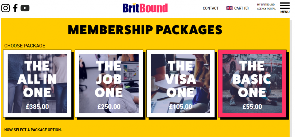 "BritBound ""The Basic Package"""