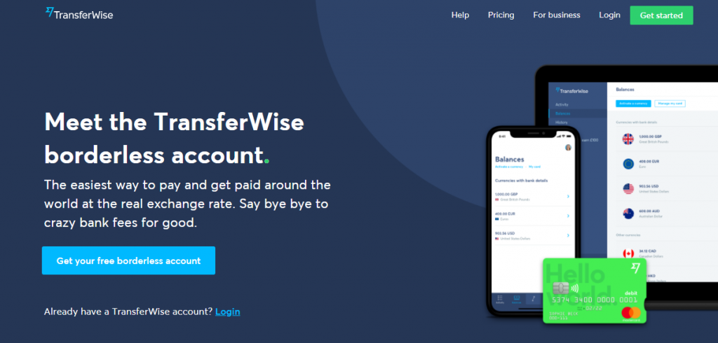 Transferwise Boardless Account