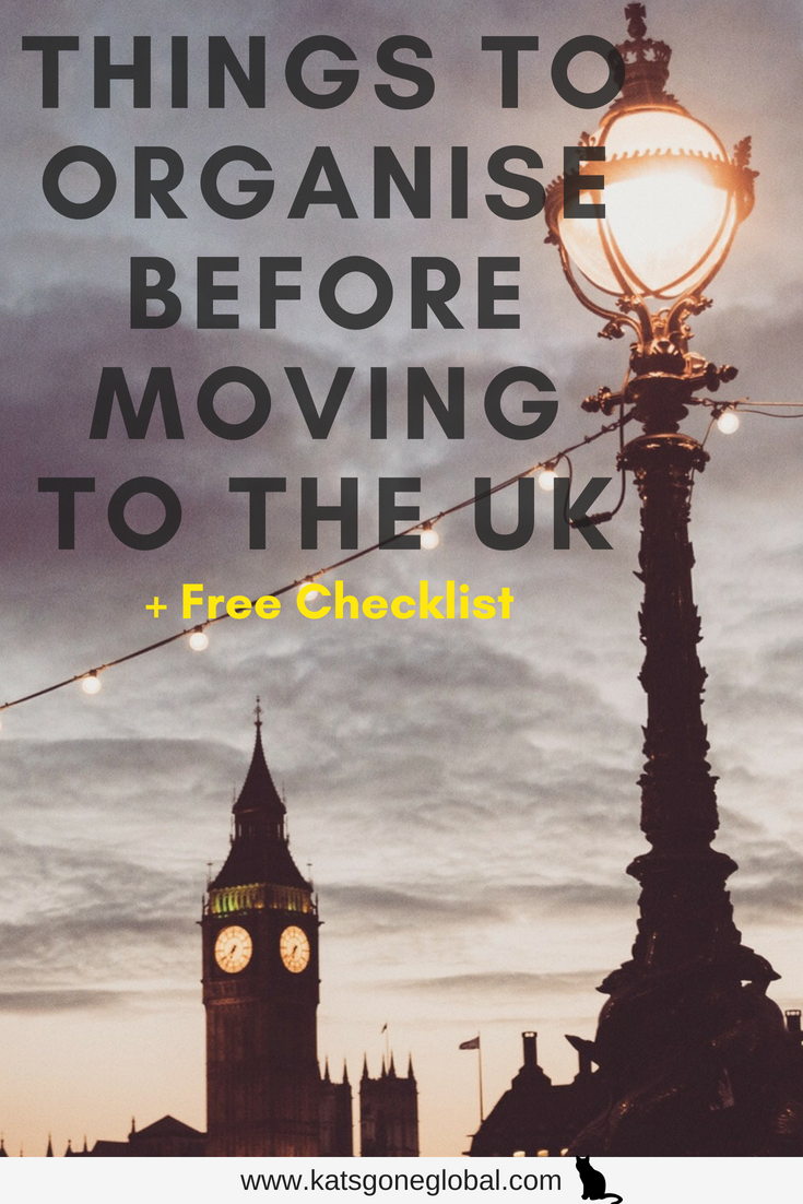 Things to Organise Before Moving to the UK