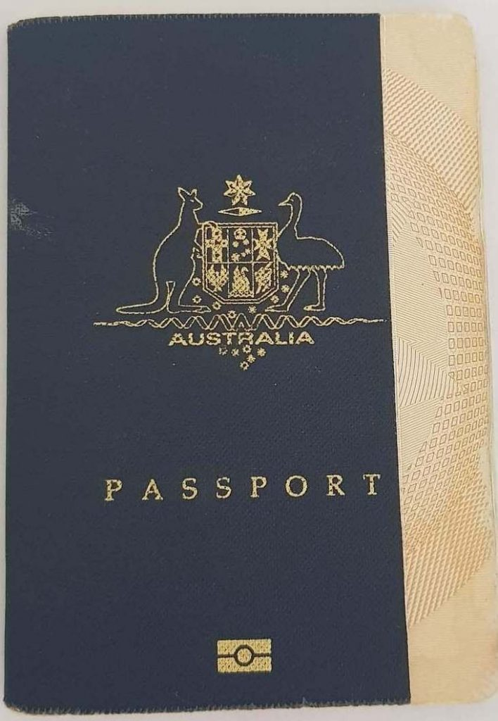 Old Australian Passport