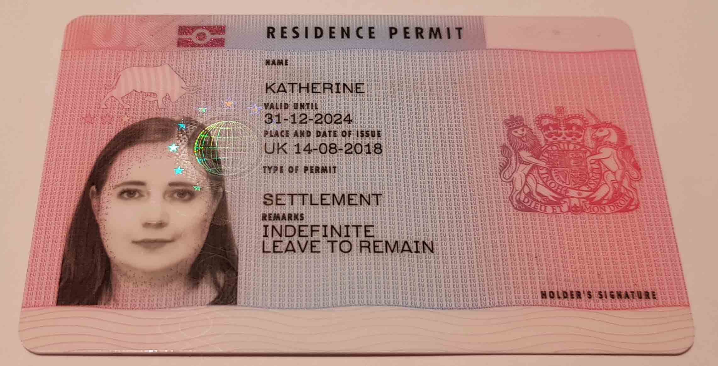 Biometric Residency Permit