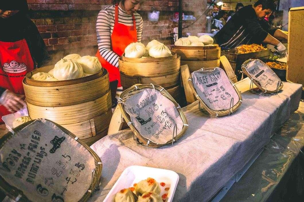 Bao buns at Bricklane Markets
