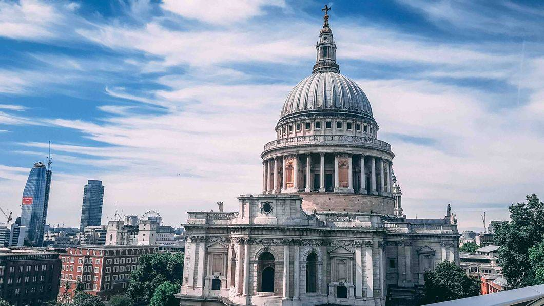 View from One New Change is St. Paul's Cathedral