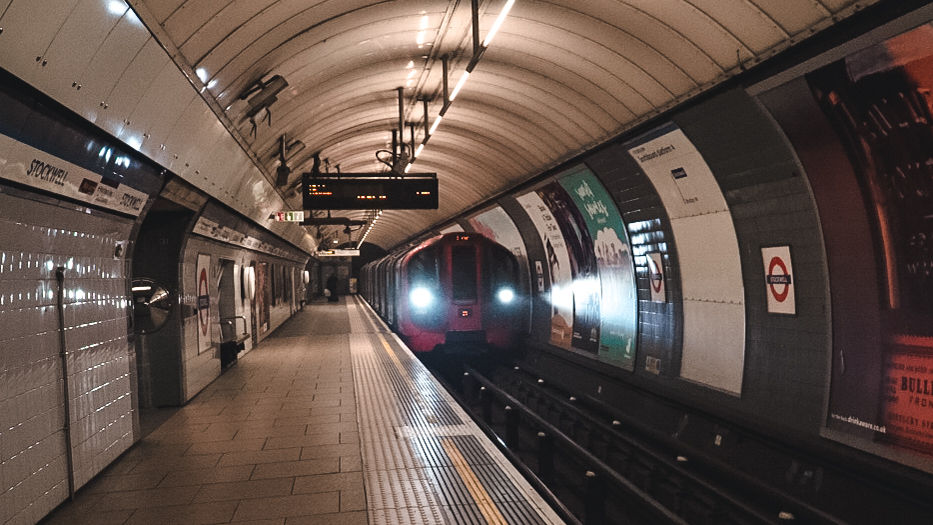 Catching the tube in London