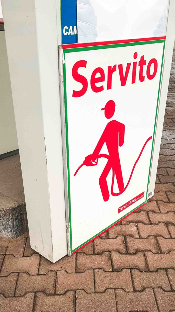Attendant service will look like this at an Italian service station