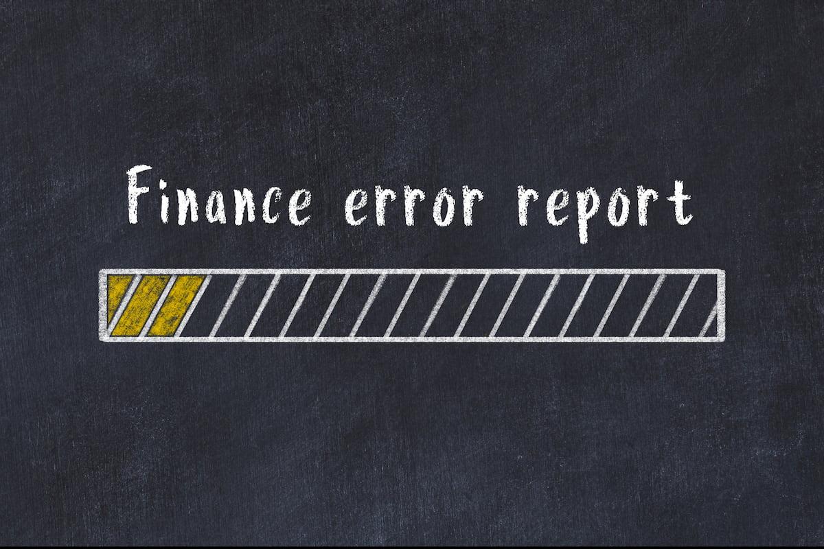 Finance error report