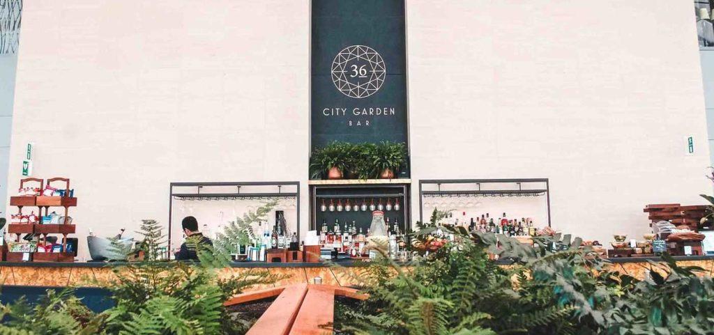 Bar at the Sky Garden.