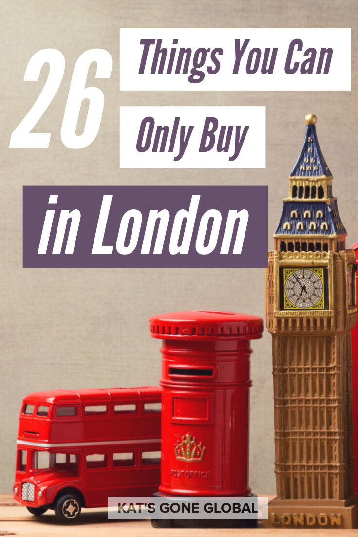 Things You Can Only Buy in London