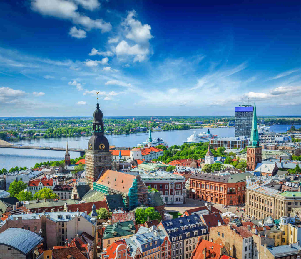 View from St Peters Church Riga