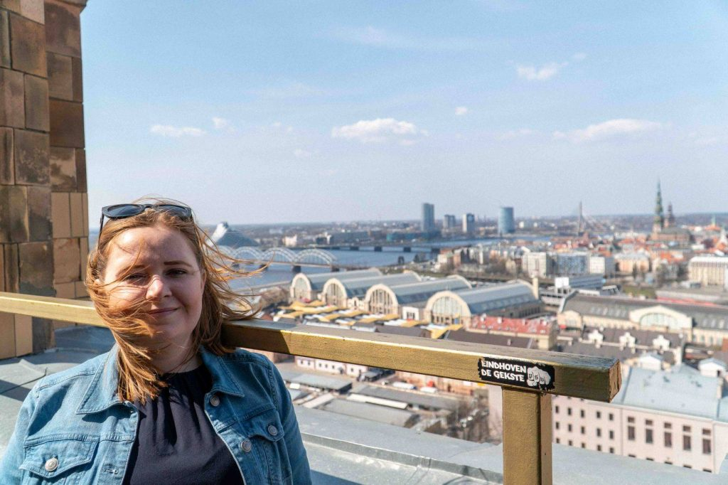 Kat-at-Latvian-Academy-of-Sciences-Panorama-Observation-Deck-1