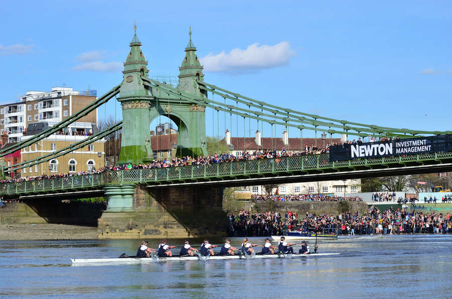 The Oxford and Cambridge boat Rac in London which is the perfect thing to do in Spring.