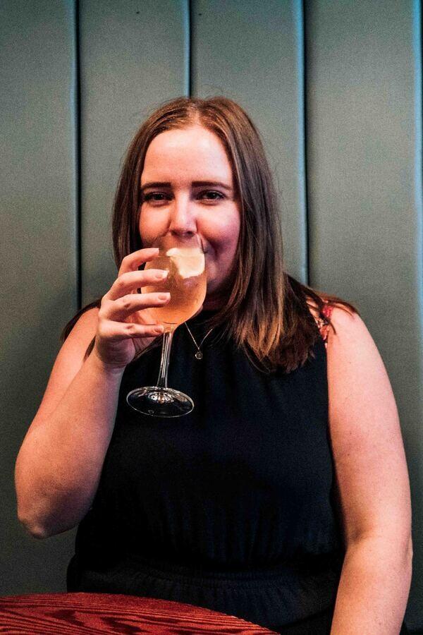 Kat-drinking-at-Bar-Termini-in-Soho