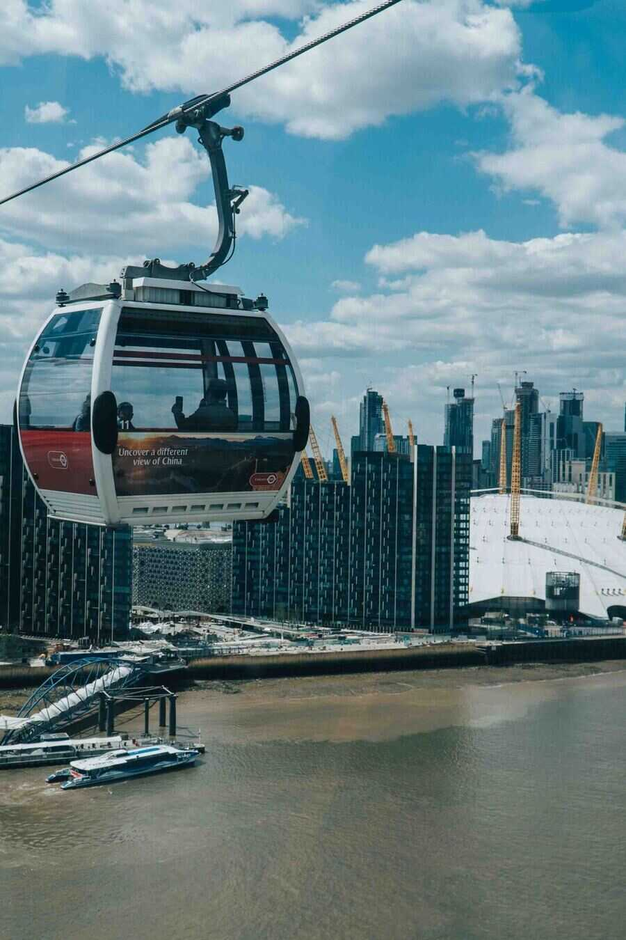 Emirates cable car in London
