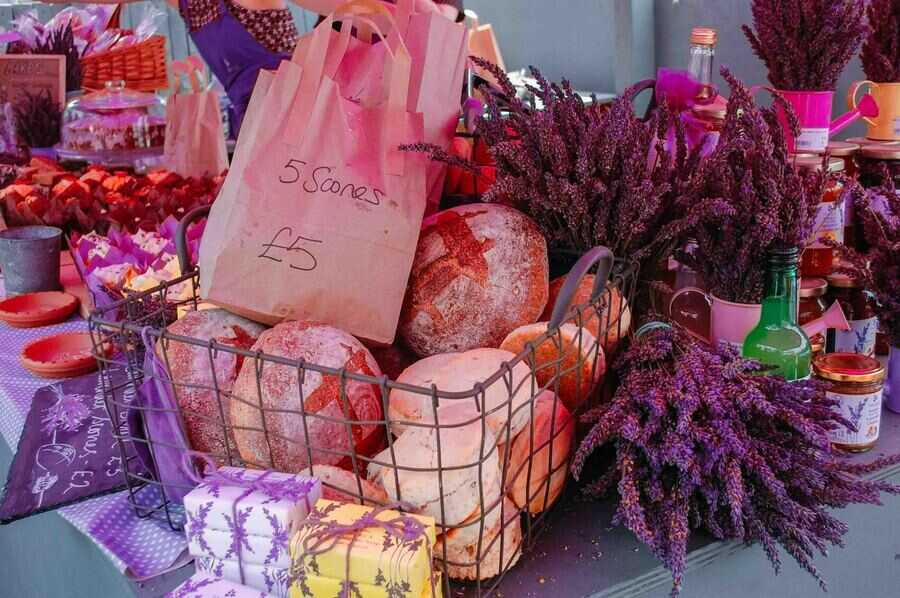 Yummy and practical lavender Products at Mayfield Lavender Farm.