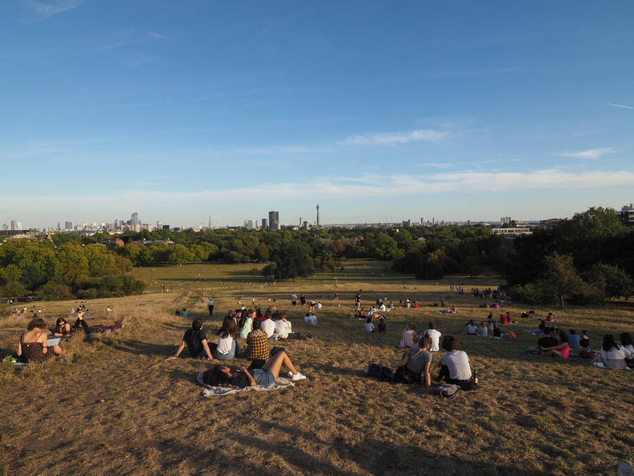 Primrose Hill is a popular spot for picnicking during summer. Not only does it host brilliant views but it has lots of green space.