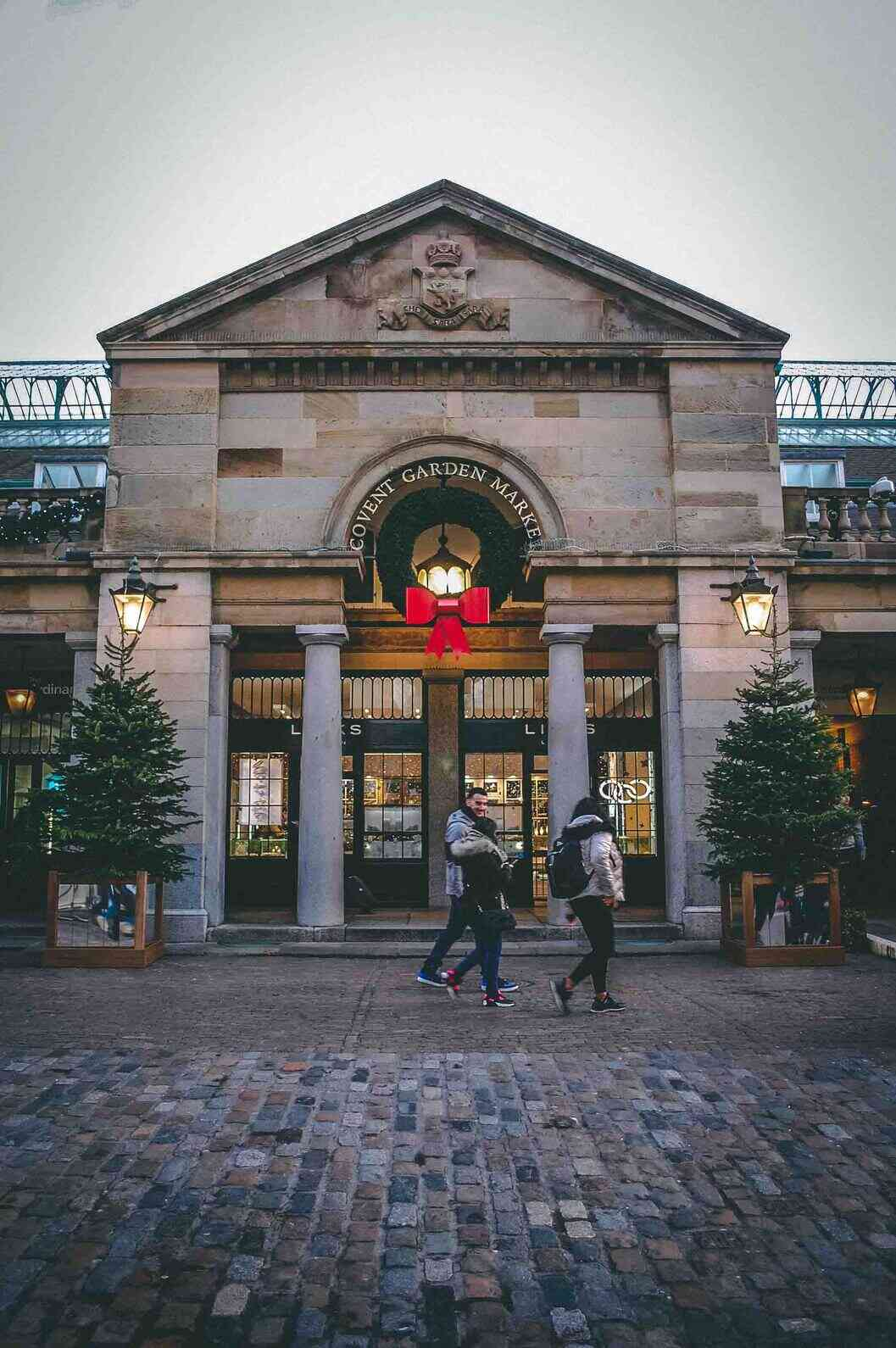 Covent Garden is right in the middle of London making it the perfect place to locate yourself for sight-seeing. Above is Covent Garden Market where you will find lots of market stalls and shops.