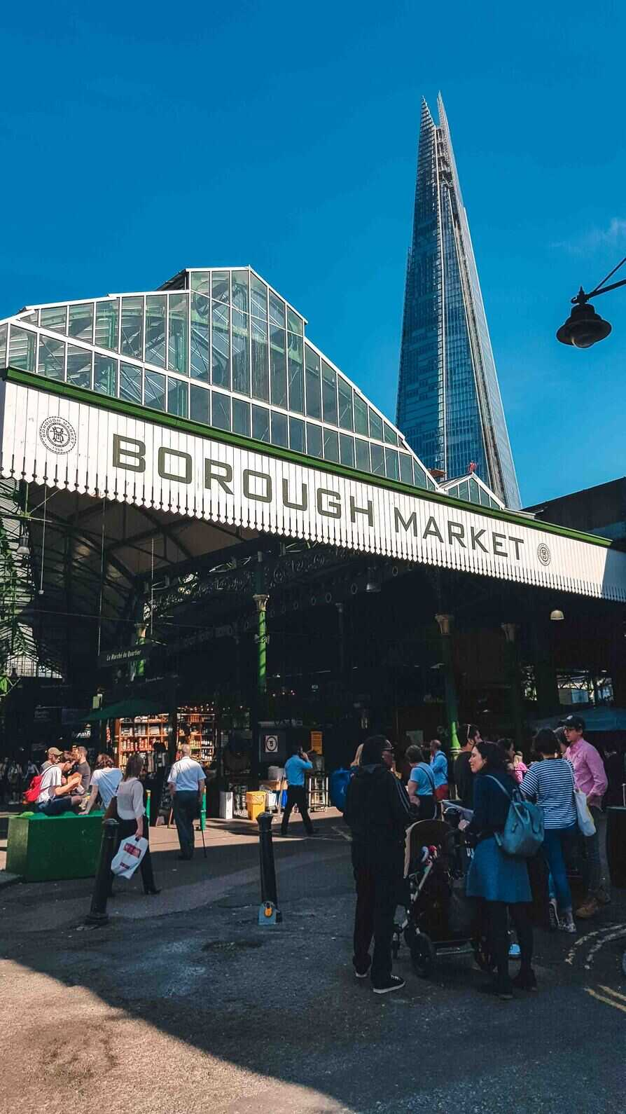 Borough Markets is on everyone's must-see list for good reason! The food here is amazing. If you come during the week you find the markets a little less crowded then on a Saturday.
