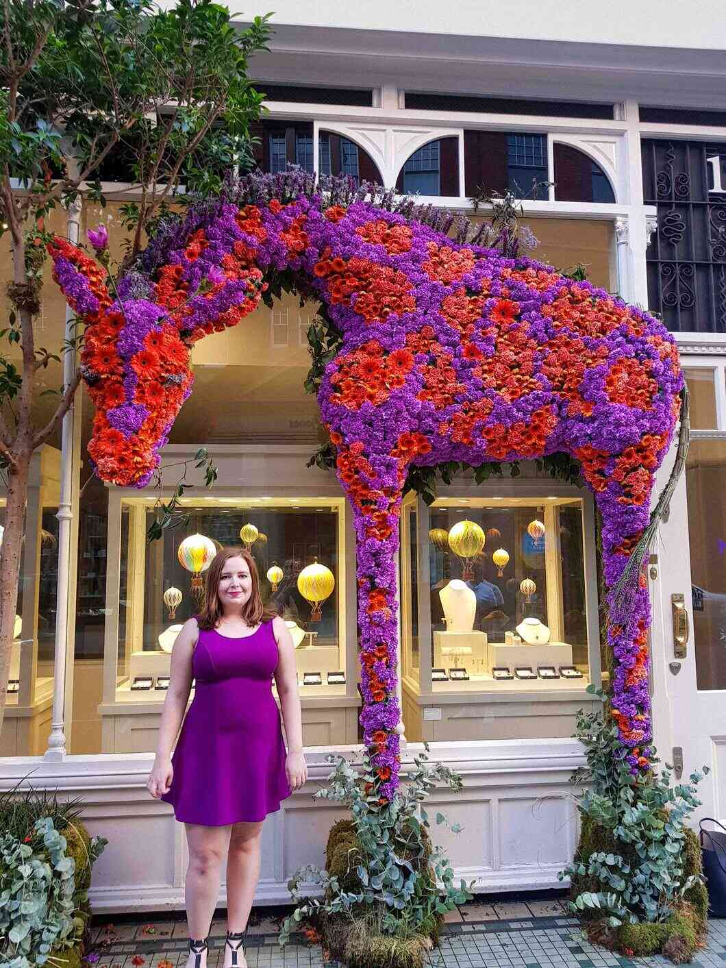 Chelsea in Bloom is a wonderful time to walk around seeing all the shops decked out in flower displays.