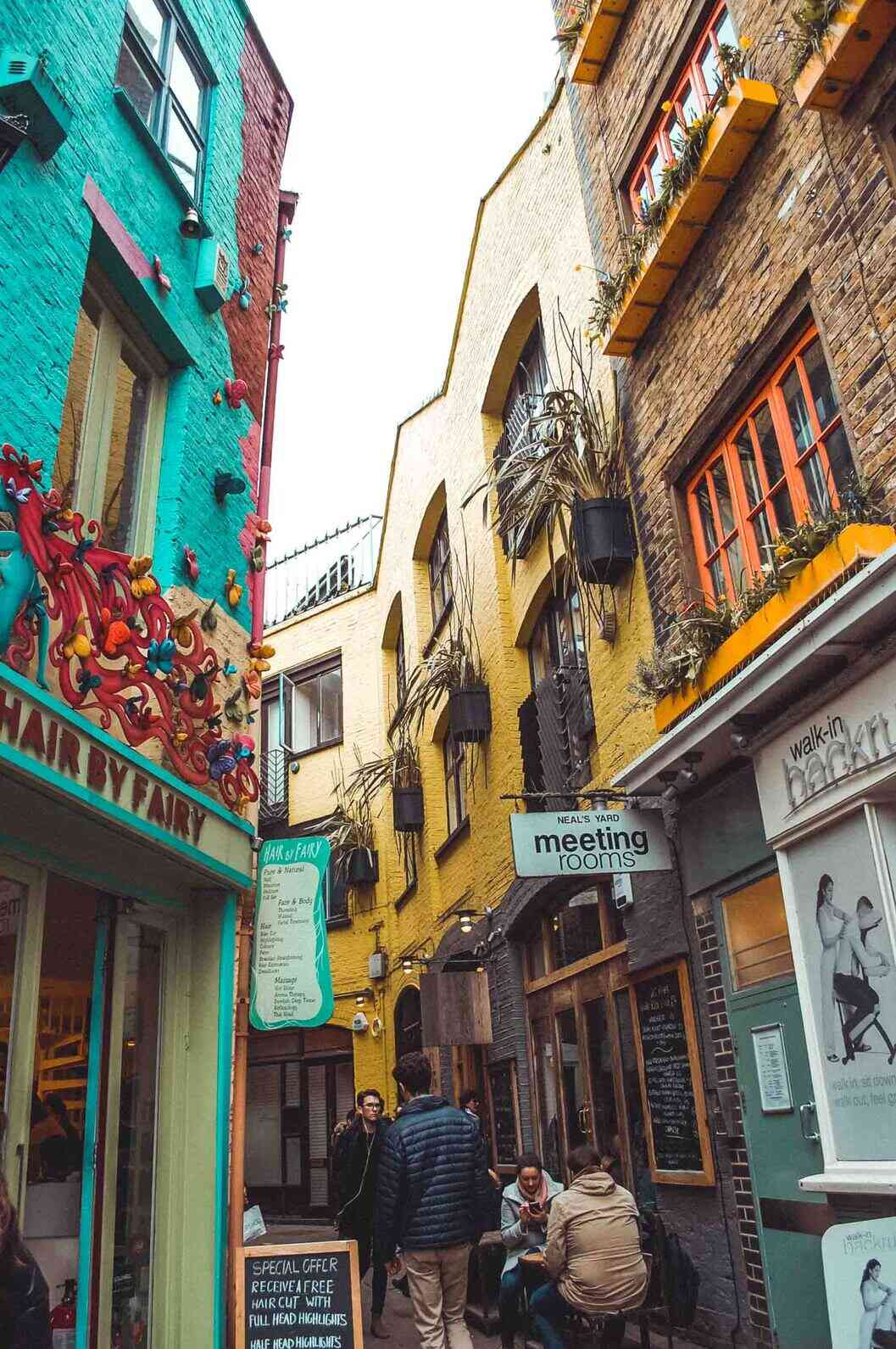 Neal's Yard is a short walk from Covent Garden lined with cute cafes and restaurants. Plus the colourful buildings make for a good photo op.