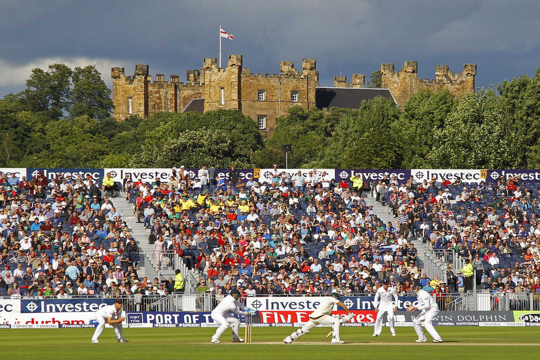 Cricket match in front of Lumley Castle.