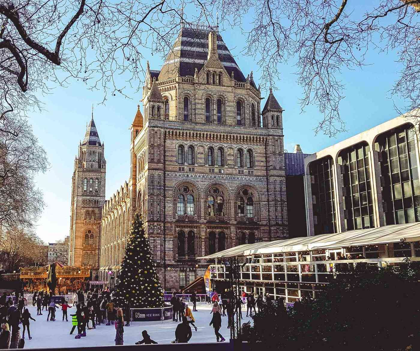 Christmas at the Natural History Museum is magical. It's all decked out with Christmas trees and an ice-staking ring. Do make sure you book in advance as it can get super busy.