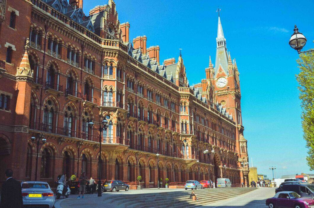 St Pancras Station and hotel is a beautiful building. Take a stroll around and admire the architecture.