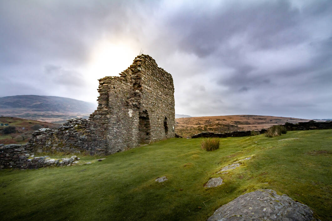 Dolwyddelan Castle in Snowdonia National Park, Wales