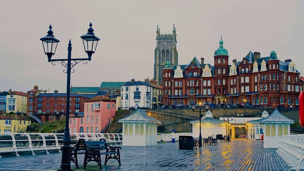 View from Cromer Pier on Norfolk centre