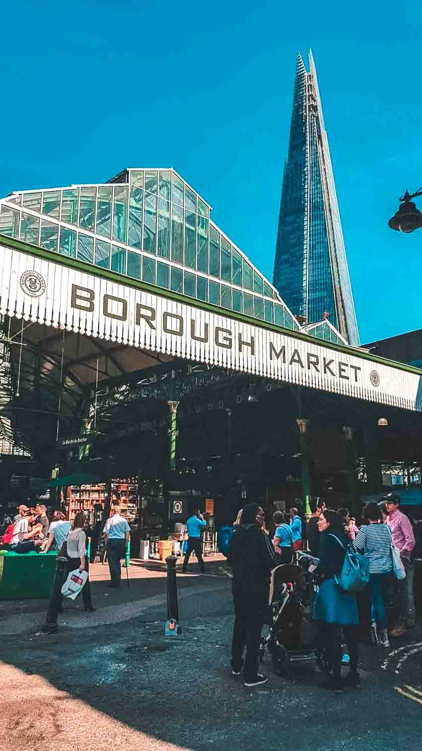 View of Borough Market with the Shard in the background.