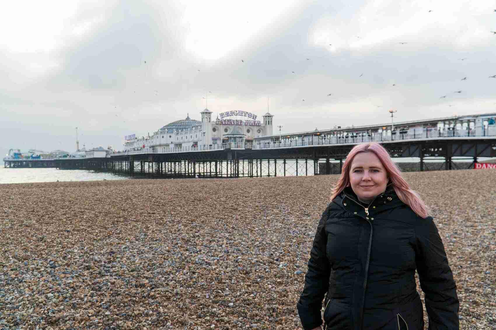 Kat at Brighton Pier
