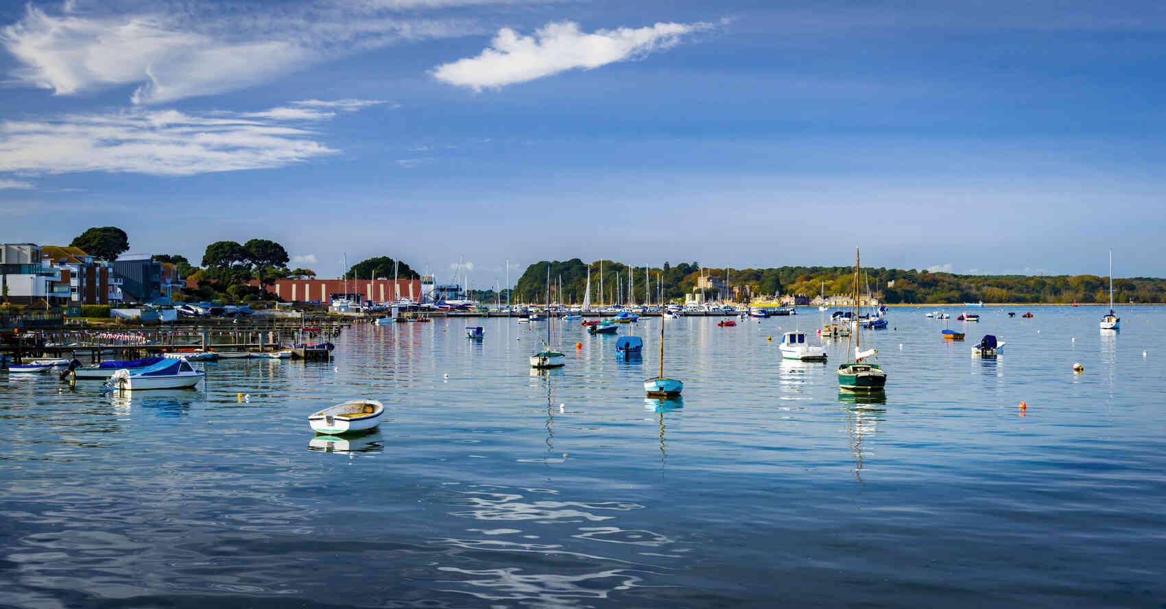 Poole Harbor in Dorset