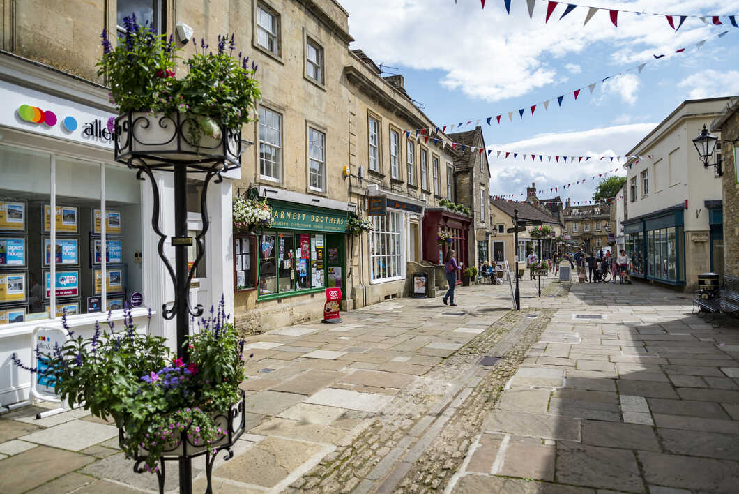 Street in the market town of Corsham England
