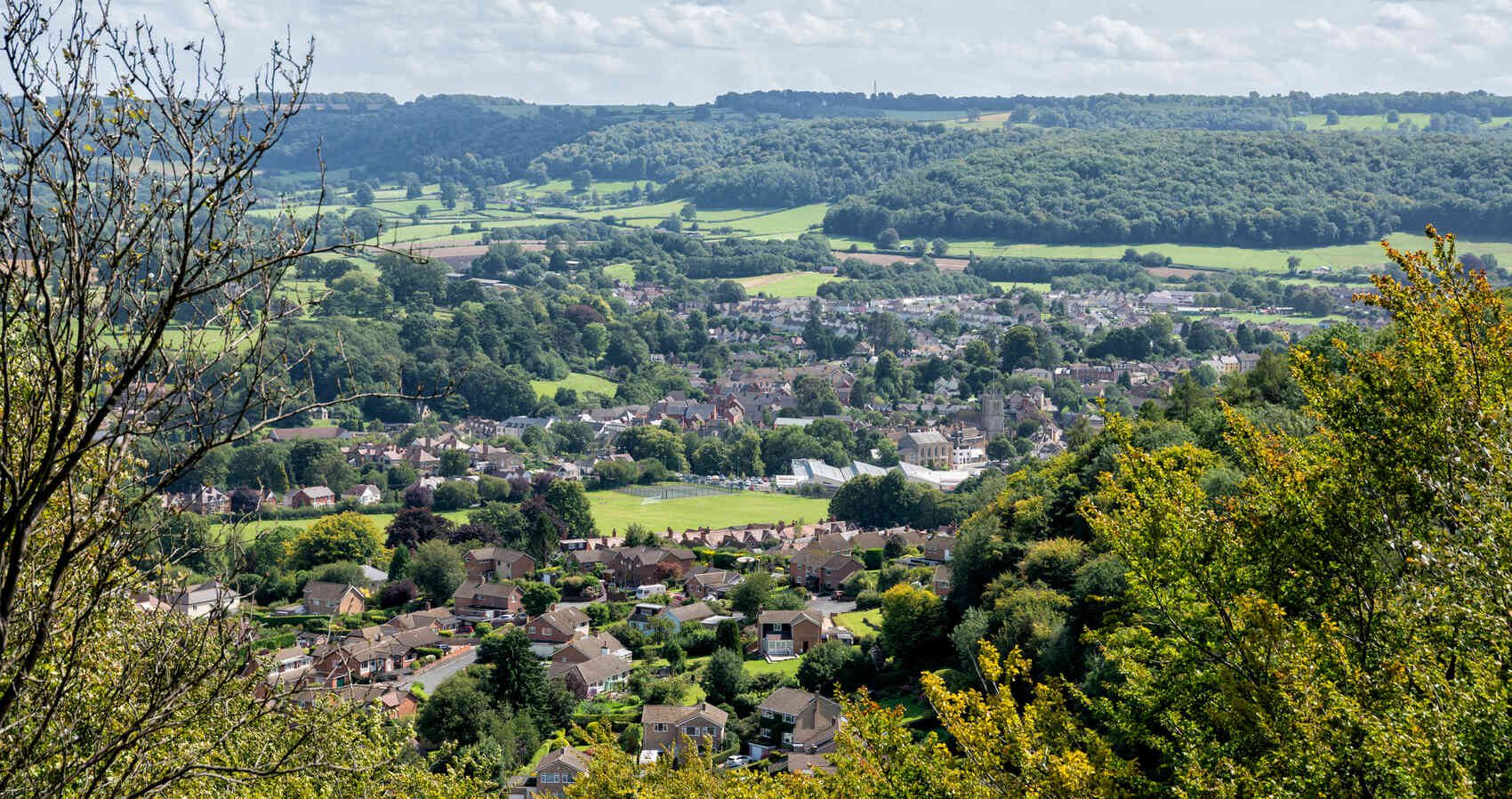 View of the Dursley in the Cotswolds Gloucestershire