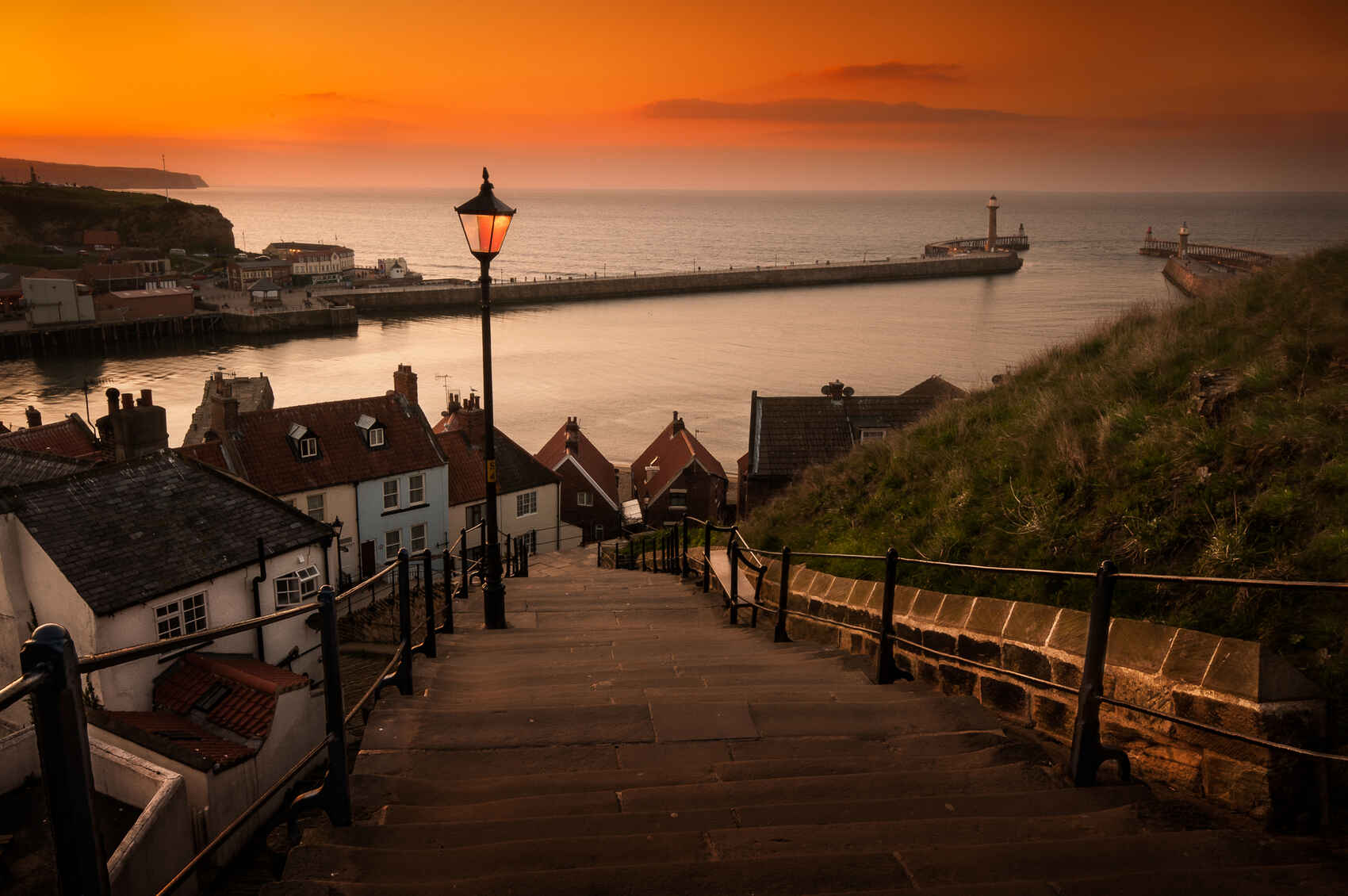 Whitby Steps at Sunset