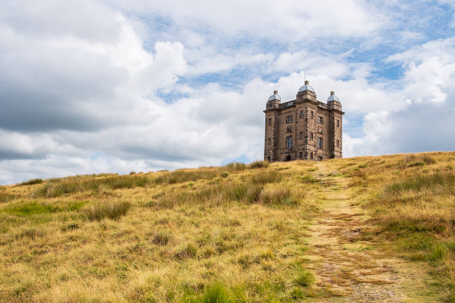The Cage Tower, National Trust Lyme, in the Peak District, Cheshire