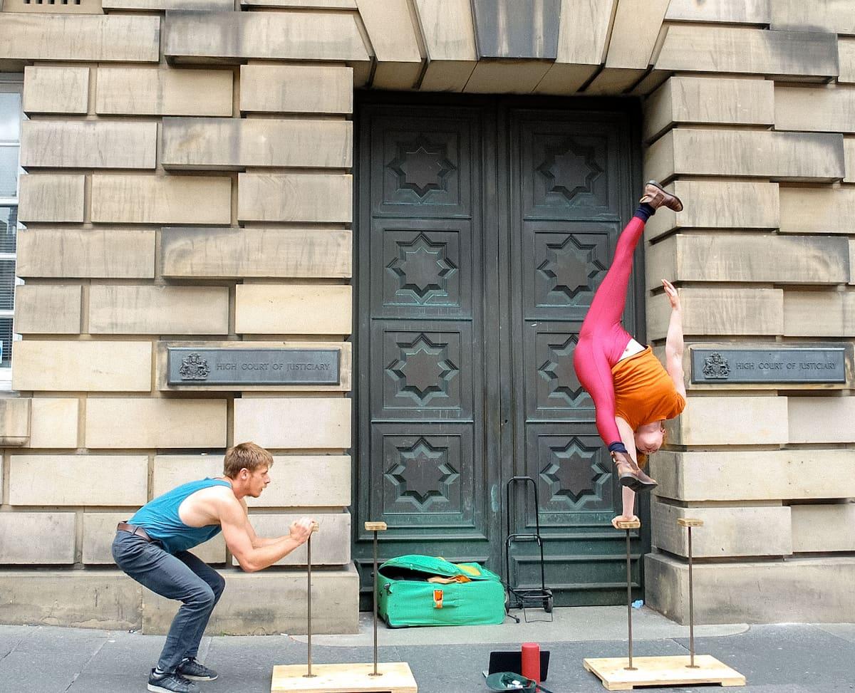 performers at Fringe Festival Edinburgh