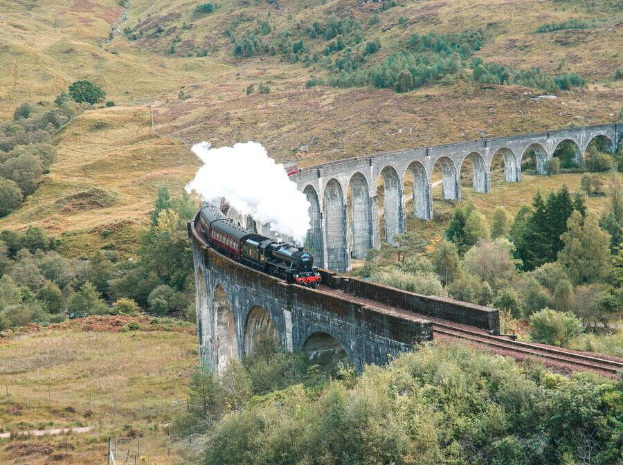 Jacobite Express going over Glenfinnan