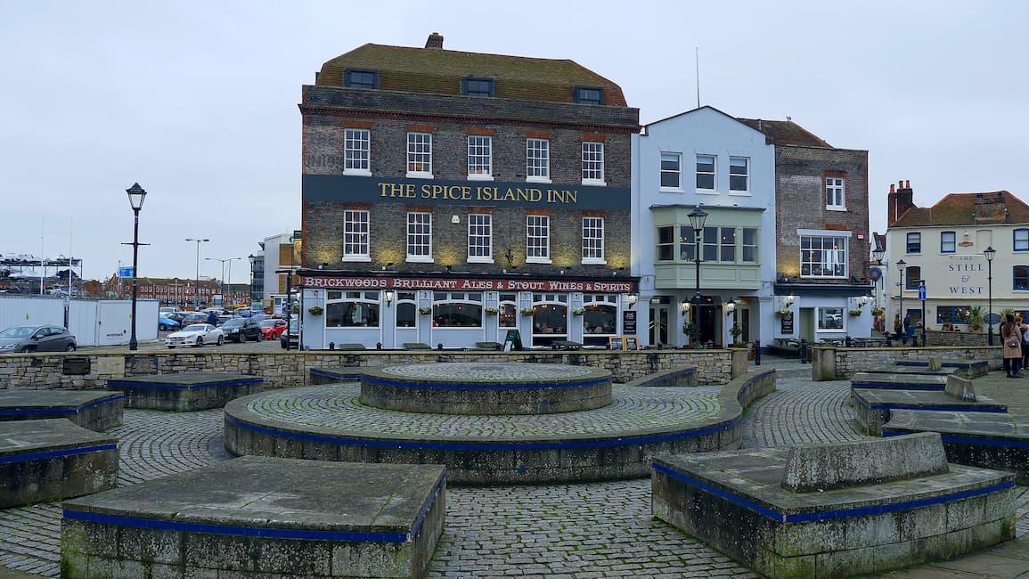 Portsmouth England cityscape