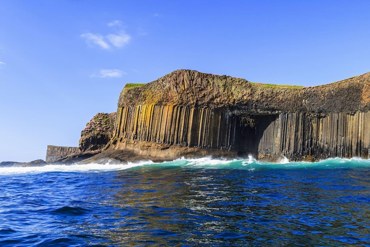 Fingals cave Staffa island on the coast of Scotland