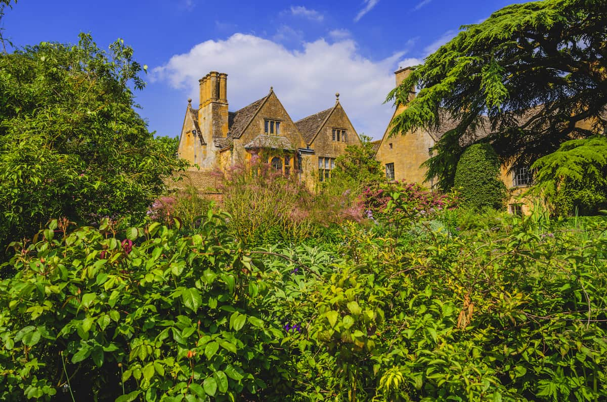Hidcote manor gardens in the english cotswolds